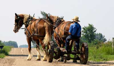A slow, old-timey wagon that requires you to do most of the work and doesn't get you far